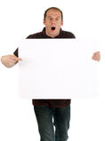 Man holding panel Stock Photography