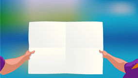 Man holding paper Stock Photo