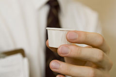 Man holding paper medine cup_3 Stock Photos