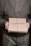 Man Holding Parcel Royalty Free Stock Image