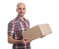 Man holding a parcel Stock Image