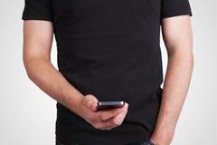 Man holding phone Royalty Free Stock Photo