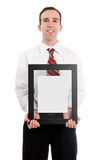 Man Holding Picture Frame Stock Photography