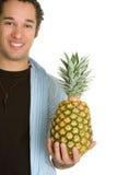 Man Holding Pineapple Royalty Free Stock Photo
