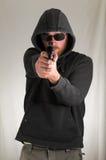 Man Holding a Pistol Gun Stock Photos