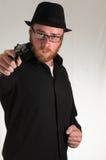 Man Holding a Pistol Gun Royalty Free Stock Photography