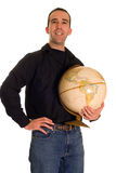 Man Holding The Planet Royalty Free Stock Image