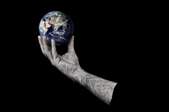 Man holding planet earth Royalty Free Stock Photo