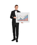 Man holding poster with chart Royalty Free Stock Images