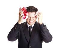 Free Man Holding Present Box Stock Image - 22114211