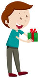 Man holding present box Royalty Free Stock Image