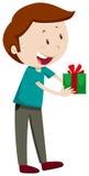 Man holding present box Royalty Free Stock Image