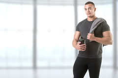 Man Holding a Protein Shake Stock Photos