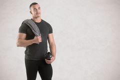 Man Holding Protein Shake Royalty Free Stock Images