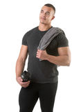 Man Holding Protein Shake Stock Images