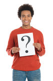 Man Holding Question Mark Sign Royalty Free Stock Photo