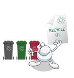 Man holding recycling message Stock Photography
