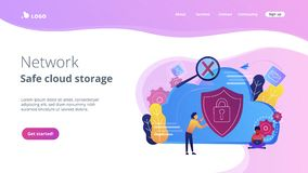 Cloud computing security concept vector illustration. Royalty Free Stock Image