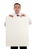 Man Holding Sheet Of Paper Stock Photos