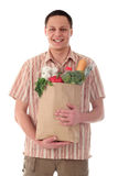 Man Holding Shopping Bag Royalty Free Stock Photo
