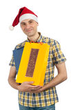 Man holding shopping bags Royalty Free Stock Image