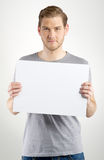 Man holding sign Royalty Free Stock Photos