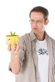 Man holding small plant Stock Photo