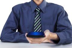 Man holding smartphone Stock Photos