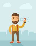 Man holding smartphone Royalty Free Stock Photo