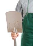 Man holding spade Stock Photos