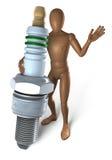 Man holding spark plug Royalty Free Stock Image