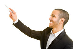 Man holding speech Royalty Free Stock Images