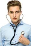 Man holding stethoscope Stock Image