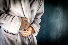 Stomach Pain Man Stock Photography
