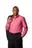 Man Holding Suit Jacket Royalty Free Stock Photo
