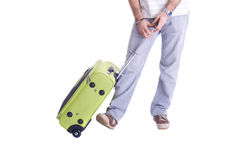 Man holding suitcase Royalty Free Stock Photos