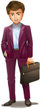 A man holding a suitcase Stock Photography