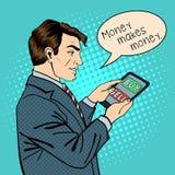 Man Holding Tablet. Businessman at Work Stock Image