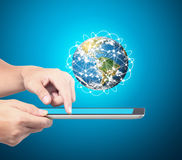 Man holding tablet computer ,Some components of this image are p royalty free stock image