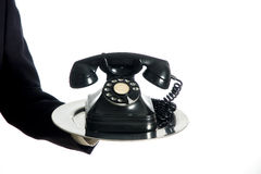 Man holding telephone Royalty Free Stock Photo