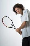 Man Holding a Tennis Racket - Vertical Stock Photography