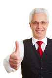 Man holding thumb up Stock Images