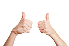 Man holding thumbs up Royalty Free Stock Photography