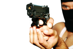 Man holding up a gun Royalty Free Stock Photo