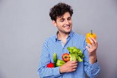 Man holding vegetables Stock Image