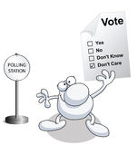 Man holding voting ballot paper Stock Photos