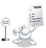 Man holding voting ballot paper Stock Photos