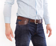 Man holding wallet in pocket Royalty Free Stock Image