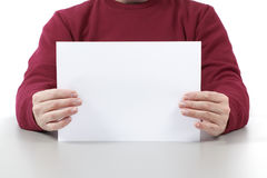 Man Holding A White Sheet Royalty Free Stock Image