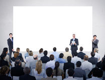 Man Holding Whiteboard at a Meeting Royalty Free Stock Photo